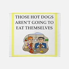 hot dog Throw Blanket