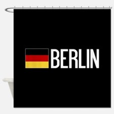 Germany: German Flag & Berlin Shower Curtain
