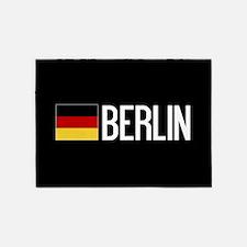 Germany: German Flag & Berlin 5'x7'Area Rug