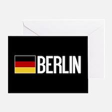 Germany: German Flag & Berlin Greeting Card