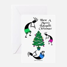 Kokopelli Christmas Greeting Card