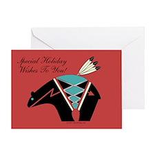 Bear Fetish Christmas Greeting Card