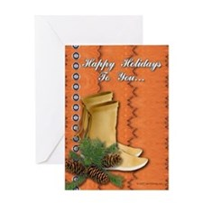 Happy Tracks Christmas Greeting Card