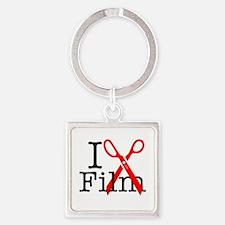 I Edit Film - Square Keychain Keychains