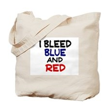Bleed Blue and Red Tote Bag