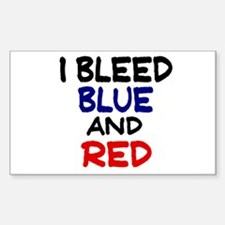 Bleed Blue and Red Rectangle Decal