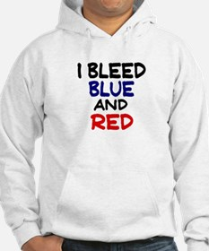 Bleed Blue and Red Hoodie