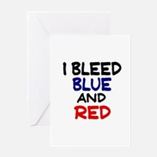 Bleed Blue and Red Greeting Card