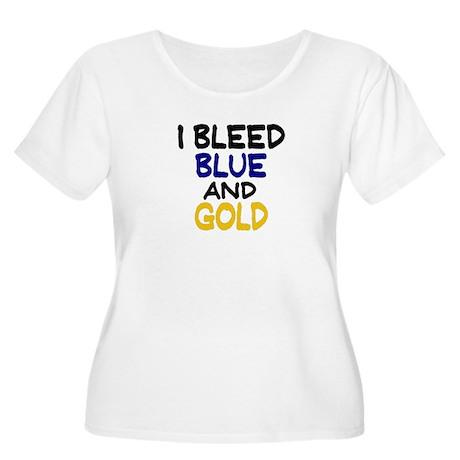 I Bleed Blue n Gold Women's Plus Size Scoop Neck T