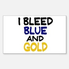 I Bleed Blue n Gold Rectangle Decal