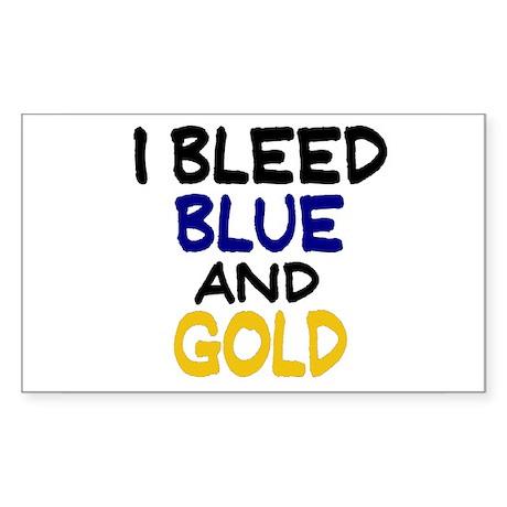 I Bleed Blue n Gold Rectangle Sticker