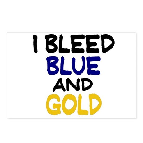 I Bleed Blue n Gold Postcards (Package of 8)