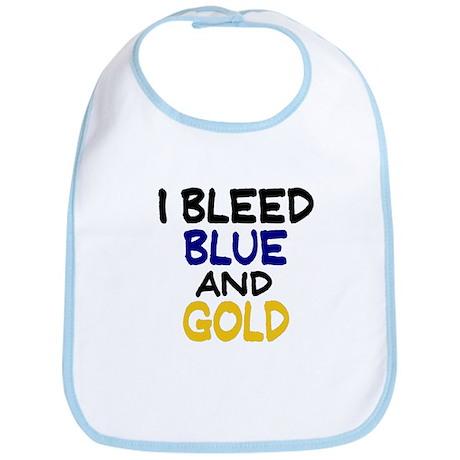 I Bleed Blue n Gold Bib