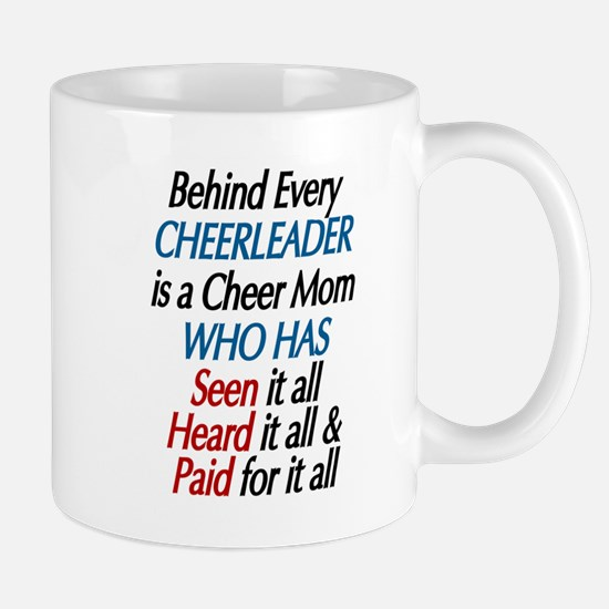 BEHIND EVERY CHEERLEADER - CHEER MOM Mugs