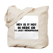 Hey Is it Hot in Here or am I Tote Bag