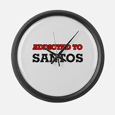 Addicted to Santos Large Wall Clock