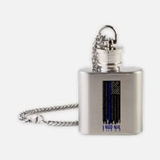 Funny Police memorial Flask Necklace