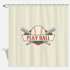 Custom Retro Baseball Shower Curtain