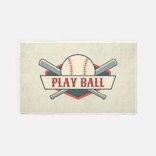 Custom Retro Baseball Area Rug