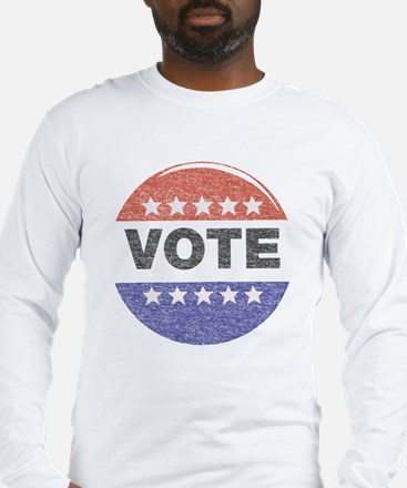 fadedVoteButton Long Sleeve T-Shirt
