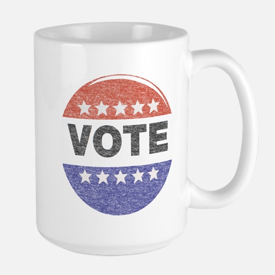 fadedVoteButton Mugs