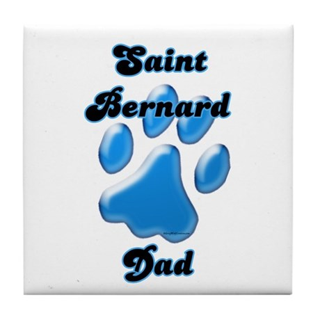 Saint Dad3 Tile Coaster