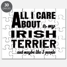 All I care about is my Irish Terrier Dog Puzzle