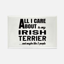 All I care about is my Irish Terr Rectangle Magnet
