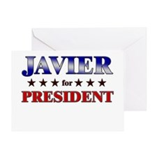 JAVIER for president Greeting Card