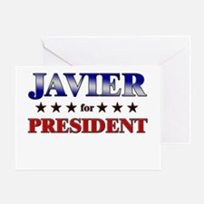 JAVIER for president Greeting Card