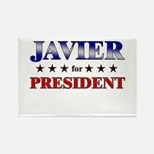 JAVIER for president Rectangle Magnet