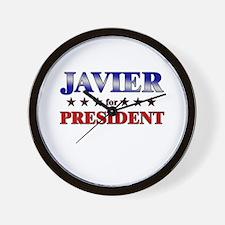 JAVIER for president Wall Clock