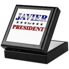 JAVIER for president Keepsake Box
