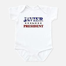 JAVIER for president Infant Bodysuit