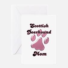 Deerhound Mom3 Greeting Card