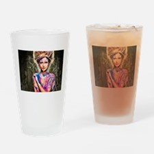 Color Girl Drinking Glass