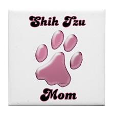 Shih Tzu Mom3 Tile Coaster