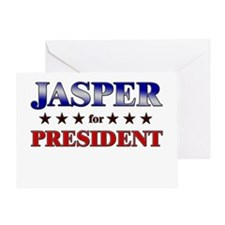 JASPER for president Greeting Card