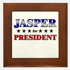 JASPER for president Framed Tile