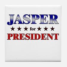 JASPER for president Tile Coaster