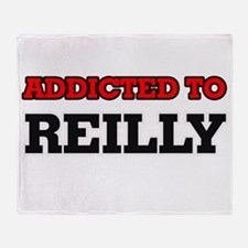 Addicted to Reilly Throw Blanket