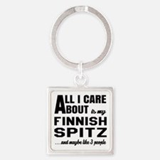 All I care about is my Finnish Spi Square Keychain