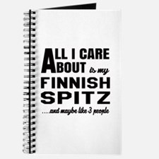 All I care about is my Finnish Spitz Dog Journal