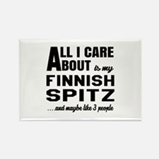 All I care about is my Finnish Sp Rectangle Magnet