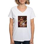 Path / Pitbull Women's V-Neck T-Shirt