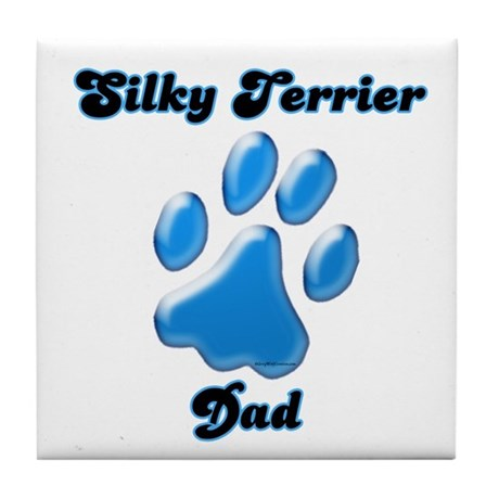 Silky Dad3 Tile Coaster