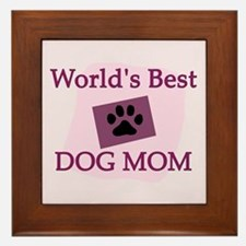 World's Best Dog Mom Framed Tile