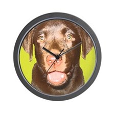Chocolate Pup Wall Clock