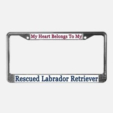 My Heart Belongs To My Rescue License Plate Frame
