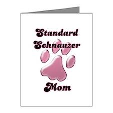 Std. Schnauzer Mom3 Note Cards (Pk of 20)